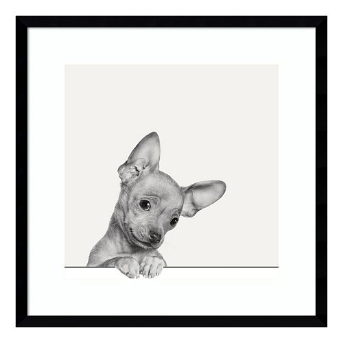 Sweet Chihuahua Dog Framed Wall Art