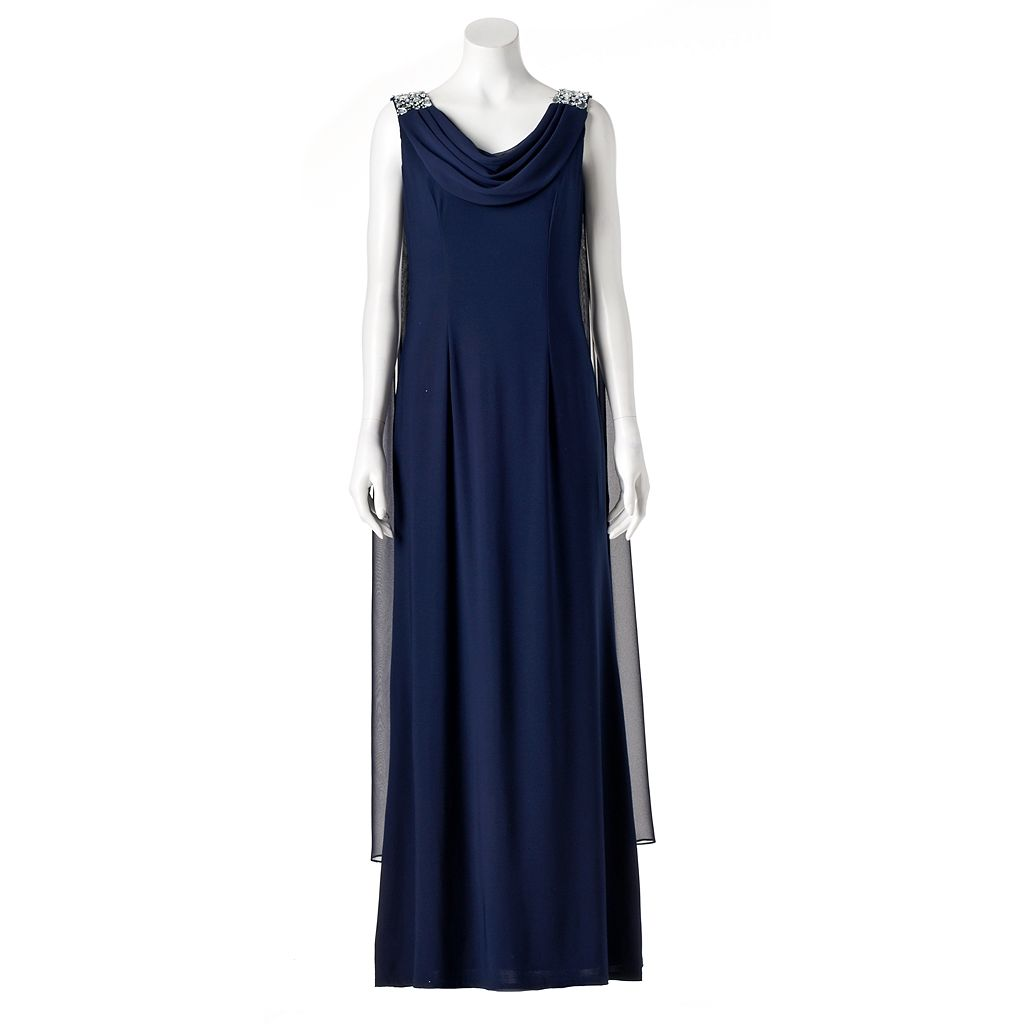 Women's Jessica Howard Draped Evening Gown