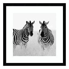 Rendezvous II Zebras Framed Wall Art