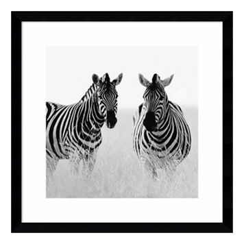 Rendezvous II Zebras Framed Wall Art
