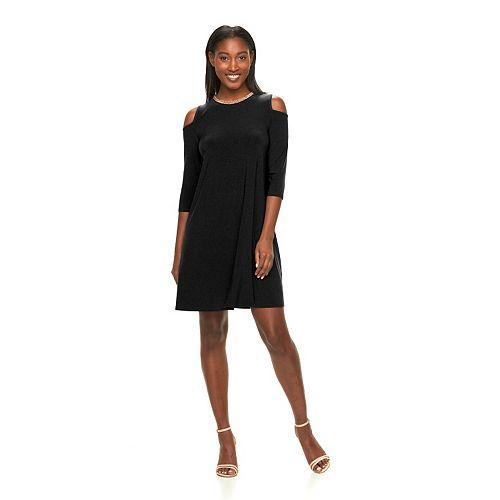 bf47edcaf479 Women s Nina Leonard Embellished Cold-Shoulder Dress