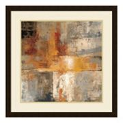 Silver And Amber Crop Framed Wall Art