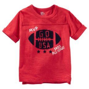 "Toddler Boy OshKosh B'gosh® Rolled Short Sleeve ""MVP"" Football Tee"