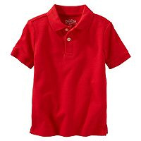 Toddler Boy OshKosh B'gosh® Red Short Sleeve Polo Shirt