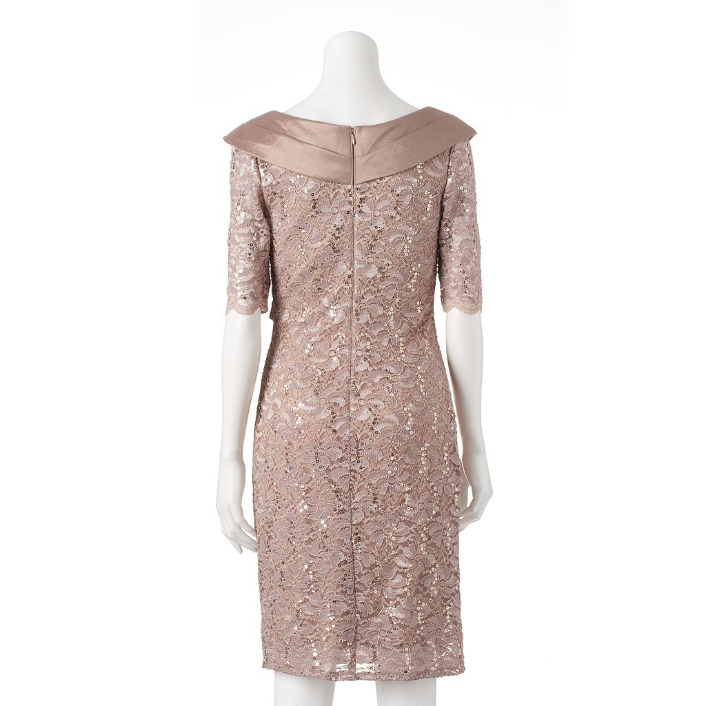 Women's 1 by 8 Floral Lace Sheath Dress