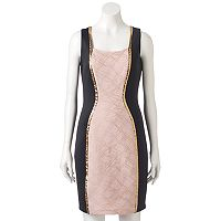 Women's Jax Metallic Colorblock Sheath Dress