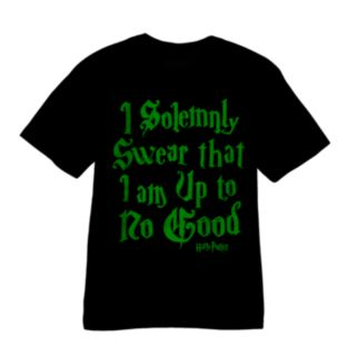 Boys 4-7 Harry Potter ''I Solemnly Swear That I Am Up To No Good'' Glow-In-The-Dark Tee
