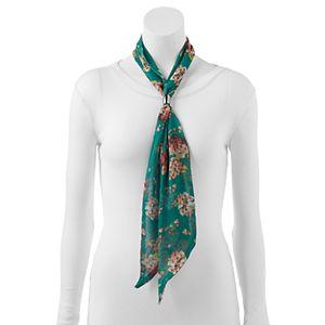 Dana Buchman Hydrangea Floral Oblong Wrap Scarf