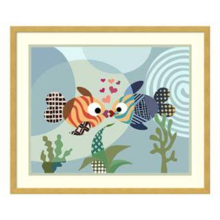 Love Fish Framed Wall Art