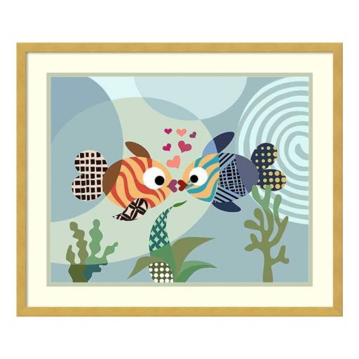 Love Fish Framed Wall Art