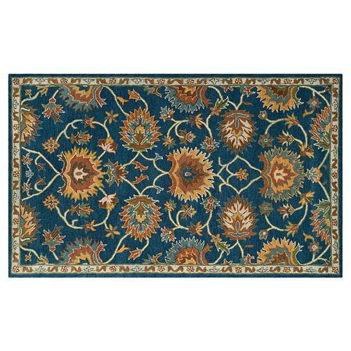 Safavieh Heritage Sibiu Framed Floral Wool Rug