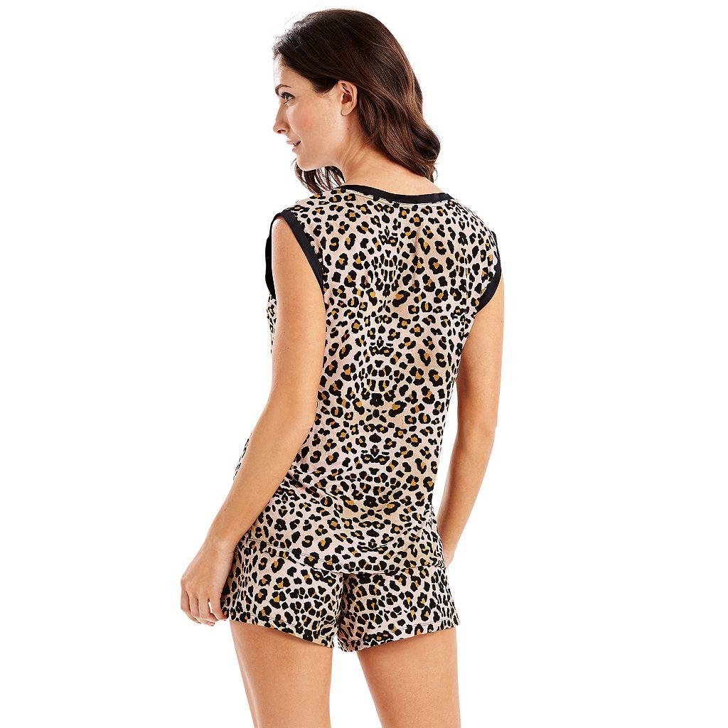 Women's Maidenform Pajamas: Satin Trim Tank & Shorts PJ Set