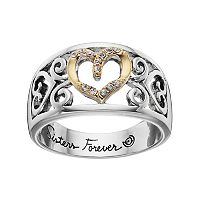 love this life Two Tone Silver Plated Crystal