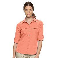 Women's Columbia Amberley Stream Roll-Tab Shirt