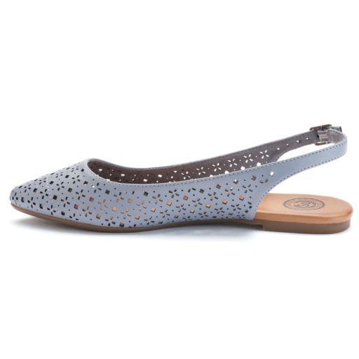 SO® Women's Slingback Pointed-Toe Flats