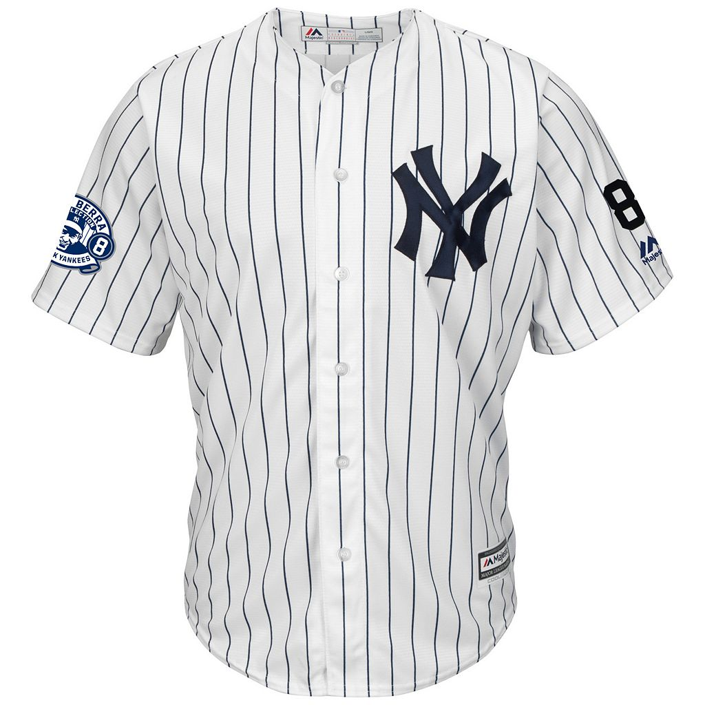 Men's Majestic New York Yankees Yogi Berra Commemorative Jersey