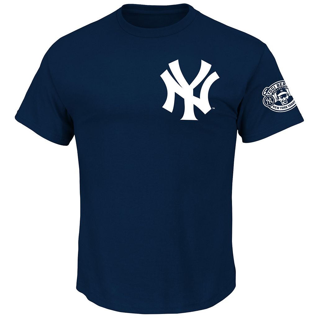 Men's Majestic New York Yankees Yogi Berra Commemorative Name and Number Tee