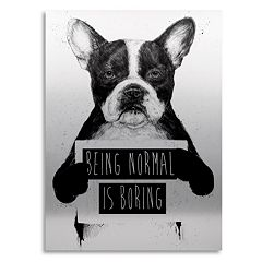 Trademark Fine Art 'Being Normal Is Boring' Large Canvas Wall Art
