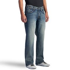 a8a30aa58e Men s Rock   Republic Worn Out Stretch Straight-Leg Basic Jeans