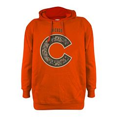 Men's Stitches Chicago Cubs Realtree Blaze Orange Hoodie
