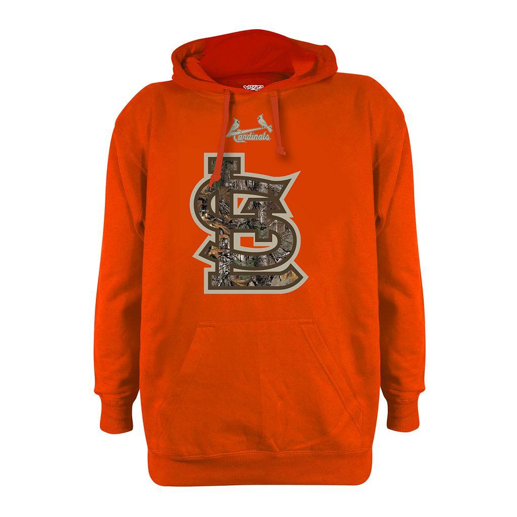 Men's Stitches St. Louis Cardinals Realtree Blaze Orange Hoodie