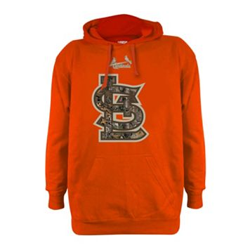 Men's Stitches St. Louis Cardinals Realtree Blaze Orange Hoodie