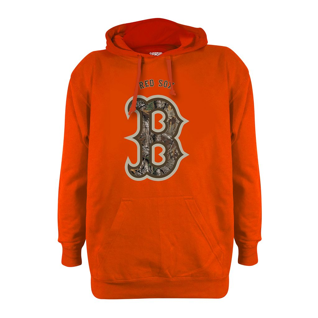 Men's Stitches Boston Red Sox Realtree Blaze Orange Hoodie