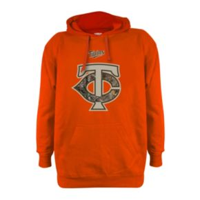 Men's Stitches Minnesota Twins Realtree Blaze Orange Hoodie