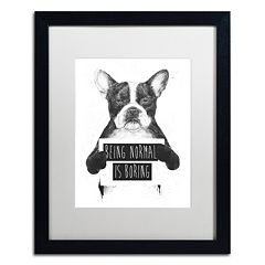 Trademark Fine Art 'Being Normal Is Boring' Black Framed Wall Art