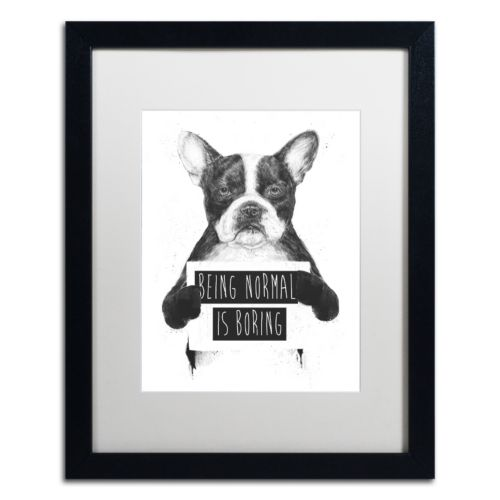 Trademark Fine Art Being Normal Is Boring Black Framed Wall Art