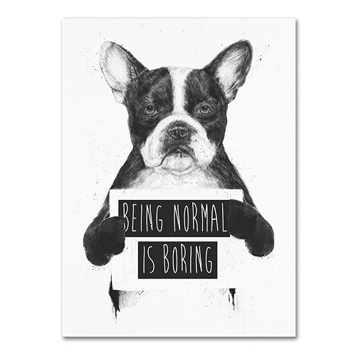 "Trademark Fine Art ""Being Normal Is Boring"" Canvas Wall Art"