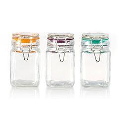 Pfaltzgraff  3 pc Square Jar Set