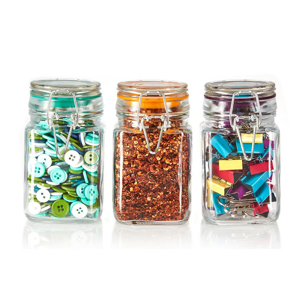 Pfaltzgraff 3-pc. Square Jar Set