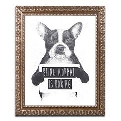 Trademark Fine Art 'Being Normal Is Boring' Ornate Framed Wall Art