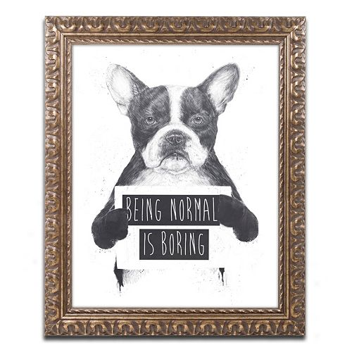 "Trademark Fine Art ""Being Normal Is Boring"" Ornate Framed Wall Art"