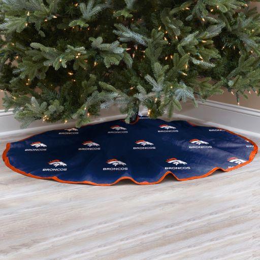 Denver Broncos Christmas Tree Skirt