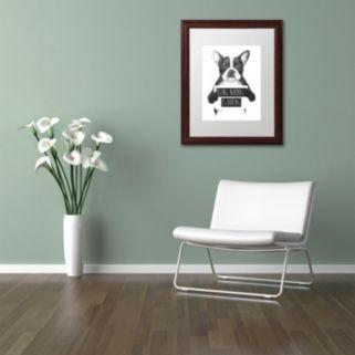 "Trademark Fine Art ""Being Normal Is Boring"" Framed Wall Art"