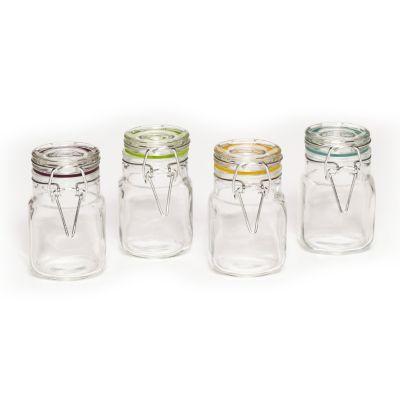 Pfaltzgraff  4-pc. Square Clamp Jar Set