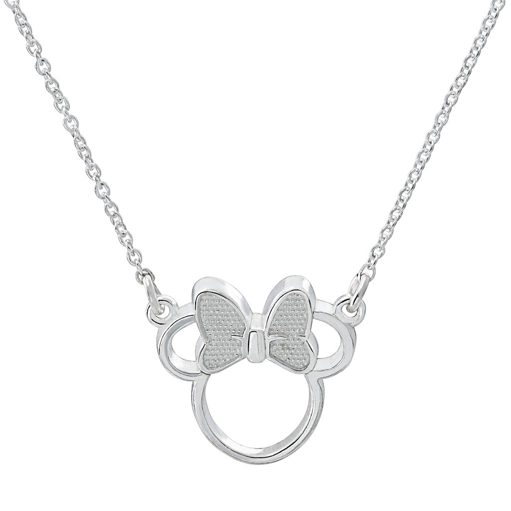 Disney's Minnie Mouse Sterling Silver Necklace