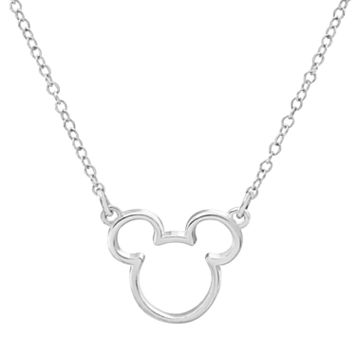 Disney's Mickey Mouse Sterling Silver Necklace