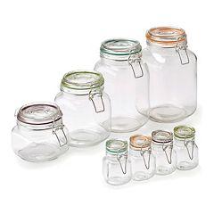 Pfaltzgraff  8 pc Assorted Clamp Jar Set