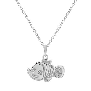 Disney / Pixar Finding Nemo Sterling Silver Pendant Necklace