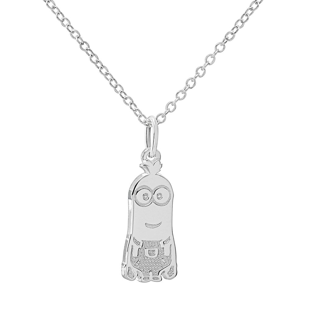 Despicable Me Minions Sterling Silver Pendant Necklace