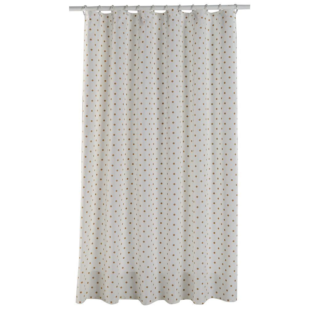 LC Lauren Conrad Metallic Dot Shower Curtain