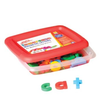 Educational Insights Alphamagnets Multicolored Lowercase Magnetic Letters