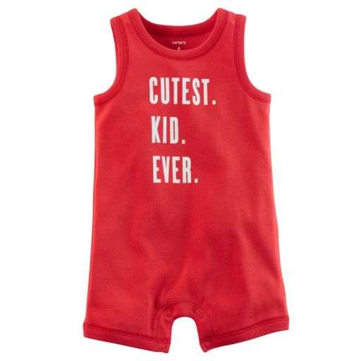 "Baby Boy Carter's ""Cutest Kid Ever"" Romper"