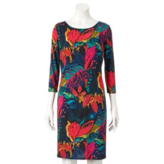 Women's MSK Abstract Floral Shift Dress