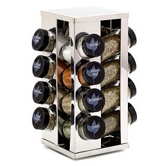 Kamenstein Heritage Revolving Countertop 16-Jar Spice Rack