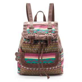 Unionbay Floral Tribal Drawstring Backpack