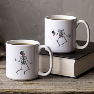 Cathy's Concepts Dancing Skeletons Coffee Mug Set